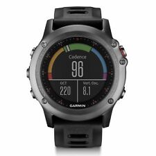 Garmin fenix 3 Gray Multisport Training GPS Watch with Black Band 010-01338-00