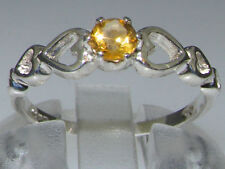 Citrine White Gold Fine Rings