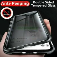 360 Full Magnetic Glass Anti-Spy Case For Samsung S21 S20 S10 S9S8 Note 20 10 98