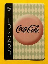 Coca-Cola Coke Pink Advertising Button Wild Card Joker Single Swap Playing Card