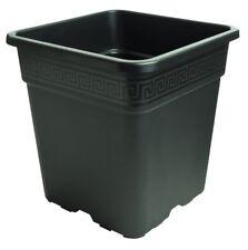 NPB Vega Square Black Polypropylene Plant Pot 6 Litre  - 21cm x 21.6cm #19D419