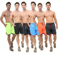 MENS SWIMMING SHORTS CASUAL SUMMER HOLIDAY BEACH GYM SPORTS SWIM CONTRAST TRUNKS