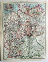 Original Map of Western Germany by George Philip & Son. c1907