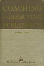 Coaching and Directing Forensics (1973, HB) by Klopf  Debate  W3