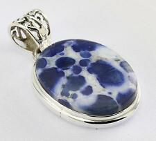 BLUE COBRA JASPER PENDANT 925 STERLING SILVER ARTISAN JEWELRY COLLECTION Y108B