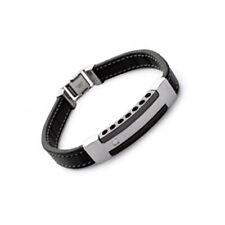 Bracelet Homme en CUIR et Acier Inoxydable NEUF - BIJOUTERIE  BIG BANG BIJOUX