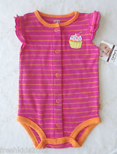 """Carter's Baby Girl Ruffled Speedy Exit Creeper """"Cupcake"""" 6 Months NWT G82404"""