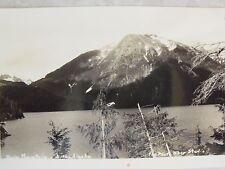 Rppc Alaska, Bear Mountain Sitka Ak! Real The Photo Shop Studio Postcard Ekc B&W