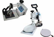 "New Plate Heat Press w/ both 4"" & 6"" diameter heat mats"