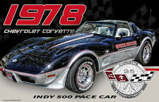 1978 Chevrolet Corvette Indy 500 Pace Car Two 11x17 Posters
