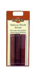 Liberon Shellac Sticks pack(3) - Light//Medium/Dark sets