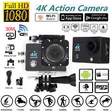 "SJ9000 4K Ultra Wifi Sport Helmet Action Camera 2.0"" 1080P HD Cam DVR Waterproof"