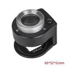 Mini 30X Optical Glass Lens 6LED Full Metal Folding Linen Tester Loupe Magnifier
