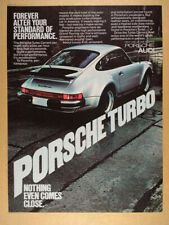 1977 Porsche 911 Turbo Carrera silver car photo vintage print Ad