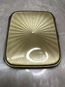 Deco Birmingham Sterling Silver & Guilloche Enamel Cigarette Case 1900s A N