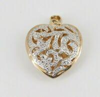 Ross Simons Gold Over 925 Sterling Silver Heart Pendant