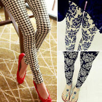 Fashion Women Skinny Print Leggings Stretchy Sexy Jeggings Pencil Pants Autumn
