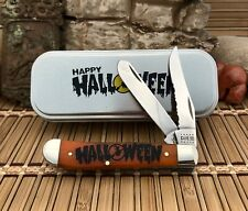 2020 Ns Karst Halloween Series Trapper Smooth Orange Bone Case XX Serrated Collectible Folding Knives for sale | eBay