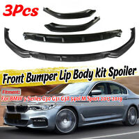 Carbon Look Front Bumper Lip Spoiler Splitter For BMW G30 G31 G38 M Sport