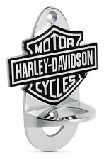 Wall Mounted Bottle Opener Harley Davidson Logo Chrome Plated Bar Tools Kitchen