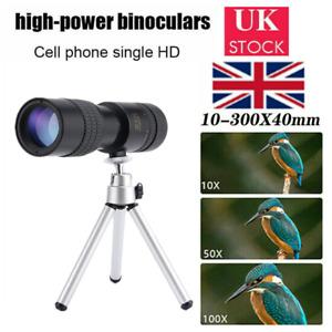 4K 10-300X40mm Super Telephoto Zoom Monocular Telescope HD Portable UK