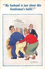 POSTCARD  COMIC  DONALD  McGILL  Constance  Series   Gents Underwear