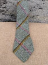 Scottish 100% Wool  Woven Tweed Tie - Littleferry Yellow