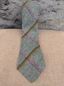 Scottish 100% Wool  Woven Tweed Tie - Littleferry Yellow