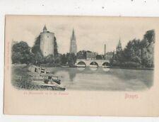 Le Minnewater Ou Le Lac D'Amour Bruges Belgium Vintage U/B Postcard 907a