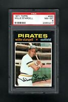 1971 TOPPS #230 WILLIE STARGELL HOF PITTSBURGH PIRATES PSA 8 NM/MT CENTERED!