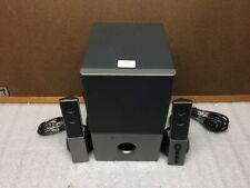 Altec Lansing VS4121 2.1 Speaker System w/ Subwoofer TESTED & WORKING Fair