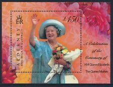 2000 ALDERNEY THE QUEEN MOTHER'S 100th BIRTHDAY MINISHEET FINE MINT MNH/MUH
