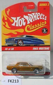 Hot wheels Classics Series 2 1965 Mustang Gold #6 of 30 FNQHotwheels FK213