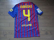 Barcelona #4 Fabregas 100% Original Jersey Shirt S 2011/12 Home MINT