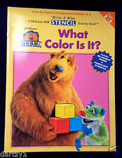 Bear in the Big Blue House Write/Wipe Activity Book: What Color Is It? 2001