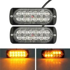 12LED Ámbar Intermitente De Emergencia Luz Estroboscópica Baliza De Coche Camión Lámpara de Advertencia 36W Reino Unido