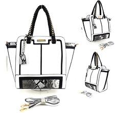 New Womens Large Snake Print Faux Leather Evening Shoulder Bag Work Handbag UK