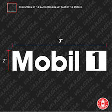 2X MOBIL 1 oil racing sticker vinyl decal