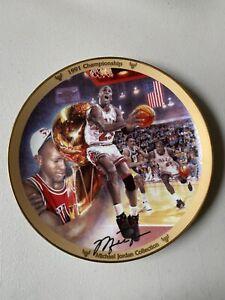 Michael Jordan 1991 Championship Plate Signed