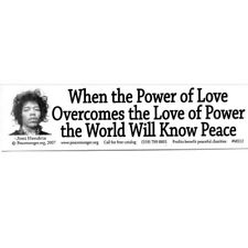 MS012-MAG When the Power of Love Overcomes... Hendrix Quote Mini MAGNET Sticker