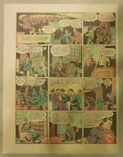 Superman Sunday Page #127 by Siegel & Shuster from 4/5/1942 Tab Size: Year #3