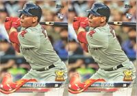 2018 Topps Series 1 Rafael Devers Boston Red Sox Rookie Card #18 Lot x 2