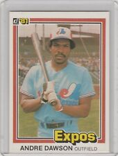 1981 Donruss #212 Andre Dawson Expos