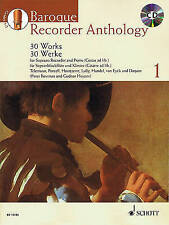 Baroque Recorder Anthology Volume 1 30 Works With CD Free Shipping