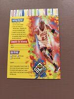 1998 UPPER DECK MICHAEL JORDAN UD CHOICE DRAW YOUR OWN CARD NBA BASKETBALL CARD