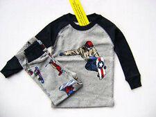 Gymboree Snowboard Gymmies Pajamas Pjs Boys 100% Cotton 4 New