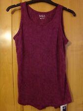 M & S Dark Magenta Active Vest Size 12 BNWT