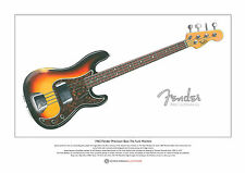 James Jamerson's 1962 FENDER PRECISION BASS LTD EDITION fine art print FORMATO A3