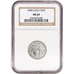 2008 American Platinum Eagle 1/4 oz $25 - NGC MS69