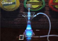 Narguilé chicha en verre Led lumière offert tuyau en silicone